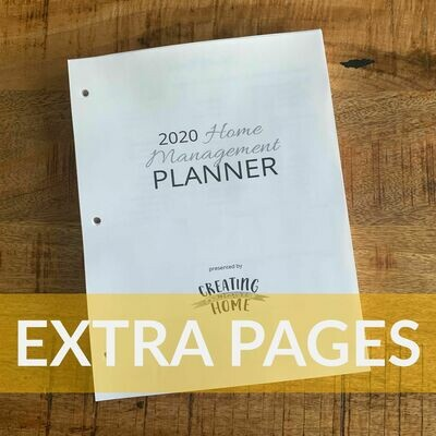2020 HM Planner: EXTRA PAGES