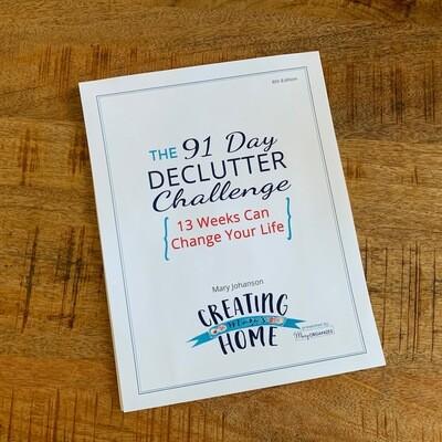 Declutter Challenge: Printable Guide & Calendar Digital Download