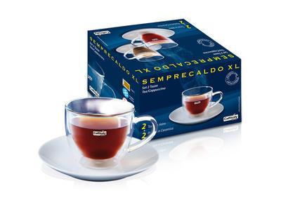 SET OF 2 CAPPUCCINO/TEA GLASS SET