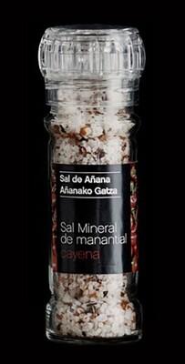 Molinillo de Sal mineral de Manantial con Cayena, 75 g - Gourmet by Beites