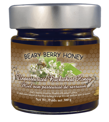 Buckwheat Honey - Unpasteurized Liquid (300g)