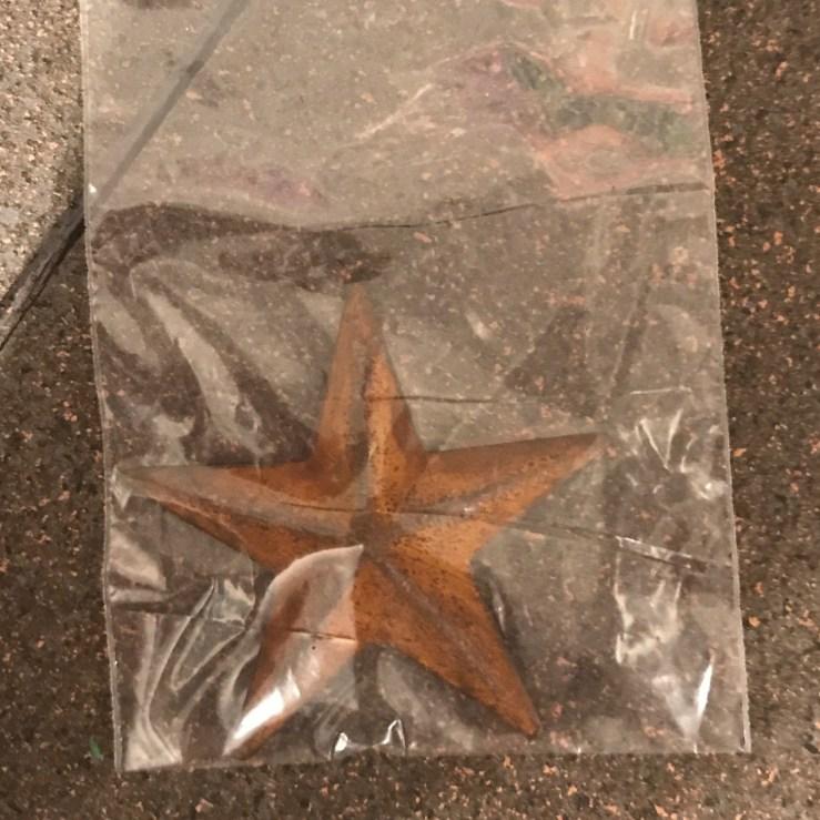 Rustic star - 2 inch - raised center