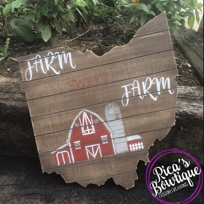 Ohio Farm Sign