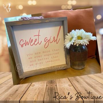 Farmhouse Sign - Sweet Girl