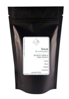 SOLAR [Thé vert fruité et floral] : Paquet de 100g