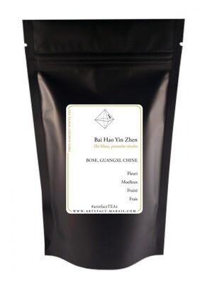 Bai Hao Yin Zhen [Silver Needle White Tea, thé blanc, première récolte] : Paquet de 25g