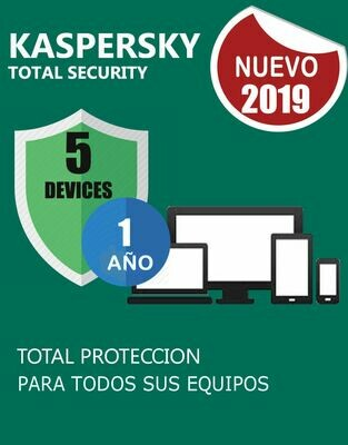 Kaspersky Total Security 5 pc 1 año