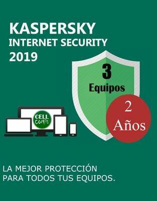 Kaspersky Internet Security 3 Pc 2 Años. ( instalación con VPN ).