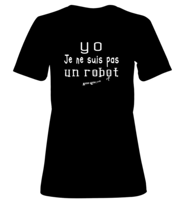 T-shirt femme modèle robot (taille S)