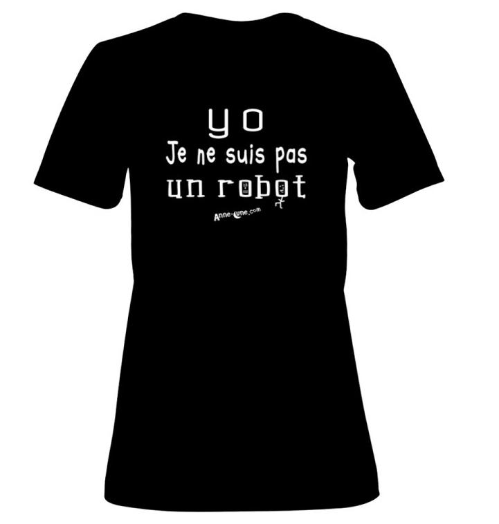 T-shirt femme modèle robot (taille XL) *PRIX RÉDUIT!