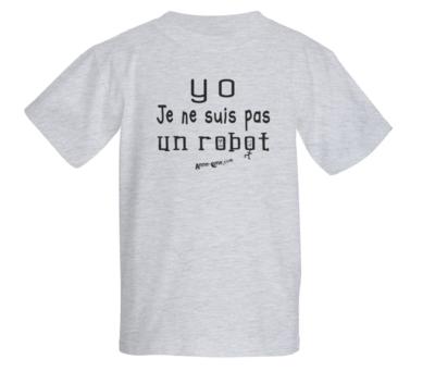 T-shirt enfant modèle robot (taille S) *PRIX RÉDUIT!
