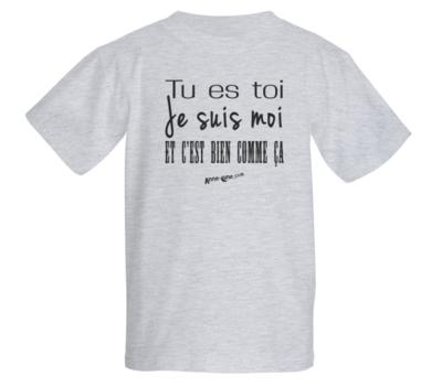 T-shirt enfant modèle toi-moi (taille M) *PRIX RÉDUIT!