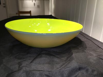 Lemon Sky Blown Glass Bowl