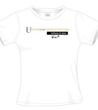 T-shirt milano.ti amo Festamobile - «Una città grigia solo per chi non ci vive»