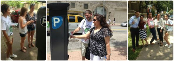 Street Teams in downtown Dallas assist citizens and gather feedback.