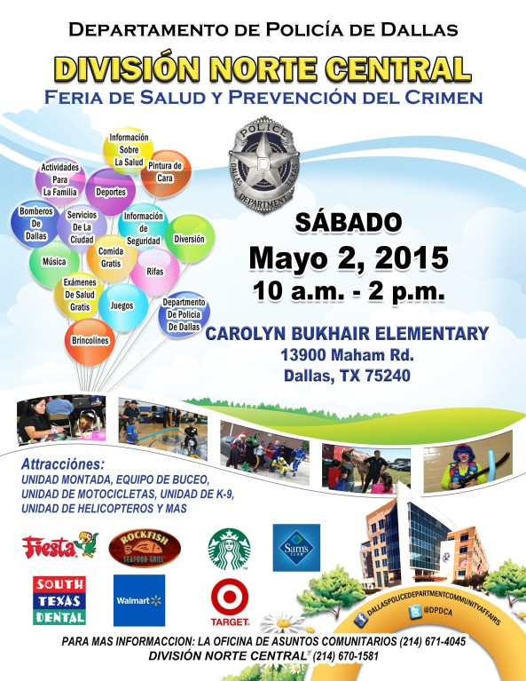 NC Crime Prevention Fair  2015 Spanish