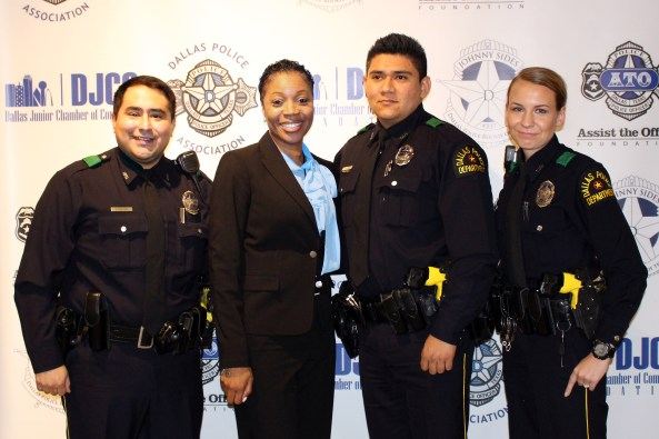 Officer Juan Luis Delgado, Chief U. Renee' Hall, Officer Fernando Garcia and Officer Gretchen Rocha