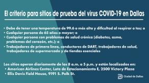 COVID 19 Testing Site Criteria SPANISH UPDATE