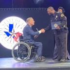Officer David Coffie receiving his Star of Texas Award.