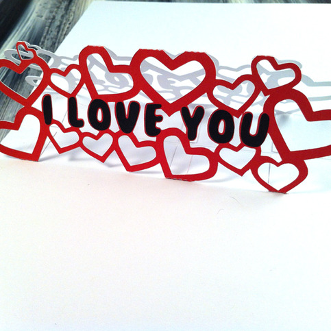 I Love You Papercut Pop Up Greeting Card · Greeting Cards