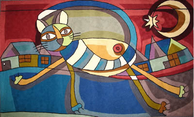 best kitchen rugs built in wine racks for cabinets picasso's cat walking on storenvy