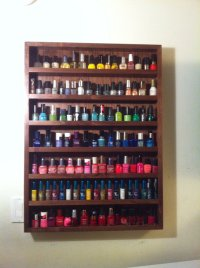 Nail polish Rack Wall Mount (Walnut)  Cube of Hearts ...