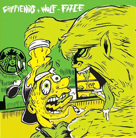 Caffiends + Wolf-Face Split artwork