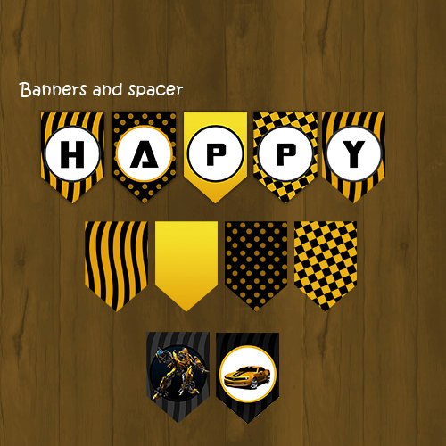 Transformers Bumblebee Birthday Printable Banner