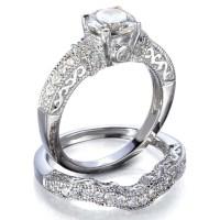 Vintage Inspired Wedding Ring Set on Storenvy