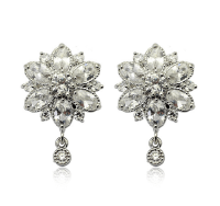 Fine Jewelry Collection: Flower shaped diamond Earrings ...