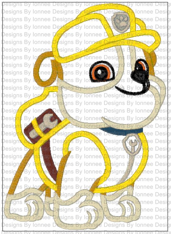 Paw Patrol Rub Applique Machine Embroidery Designs In 2