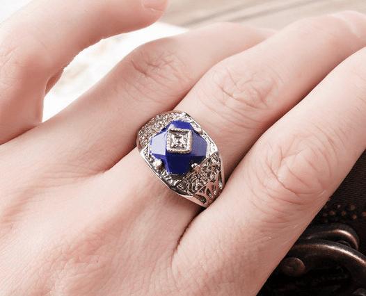 Carolines Lapis Daylight Ring 611 on Storenvy