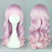 pastel pink ombre wig long curly
