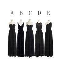 Black bridesmaid dresses, long bridesmaid dresses, chiffon ...