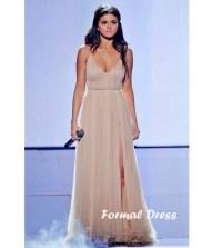 Formal Dress | Sexy A-Line Champagne Chiffon Long Prom ...