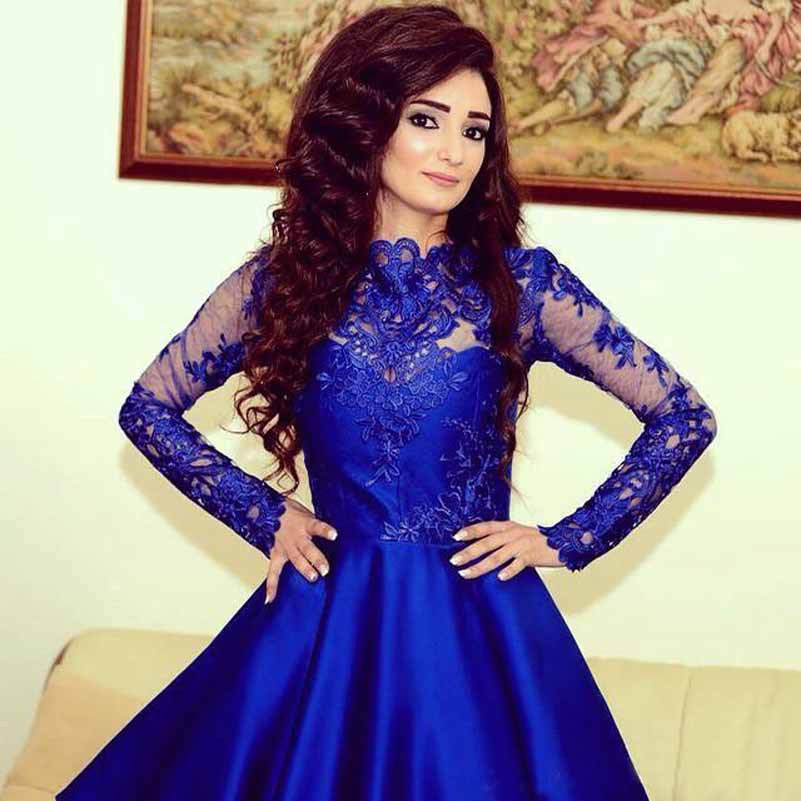 stylish royal blue long
