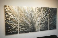 Large Radiance Gold Silver- Metal Wall Art Abstract ...