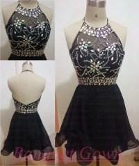Simple Homecoming Dresses,Cute Short Prom Dresses,Black ...