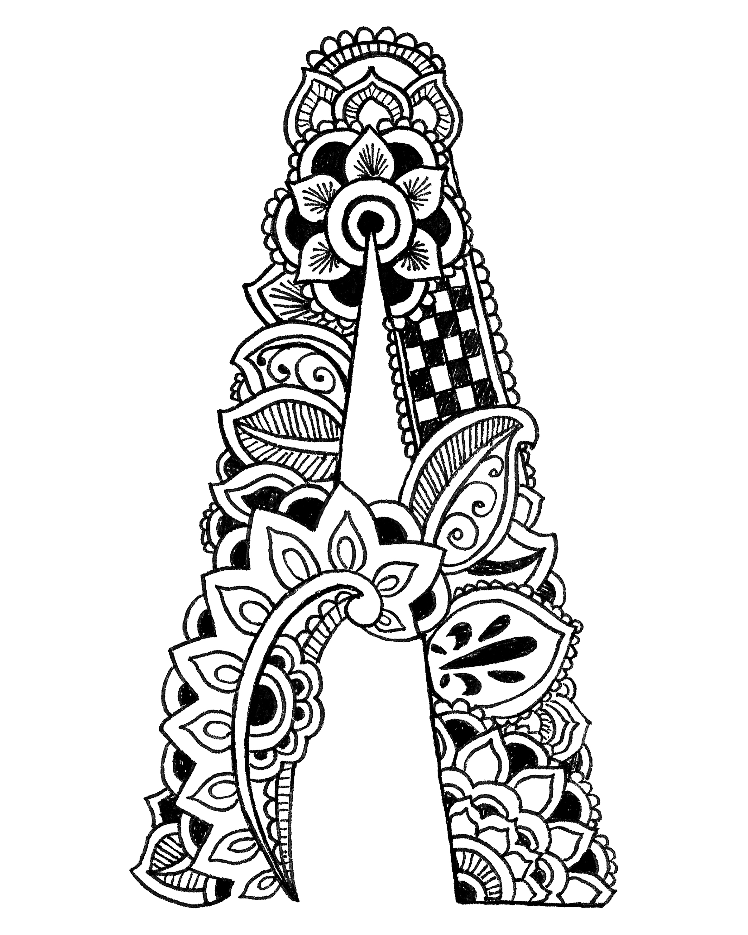 COLORING PAGES Henna Alphabet · Exodus Illustration