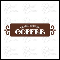 Decal Drama  Fresh Ground Coffee - Wall Decal  Vinyl ...