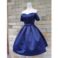 Short sleeve prom dress, junior prom dress, cute prom ...