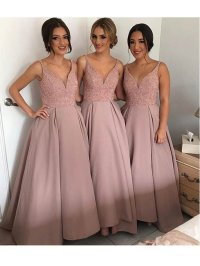 A line bridesmaid dresses,Lace bridesmaid dresses, Long ...