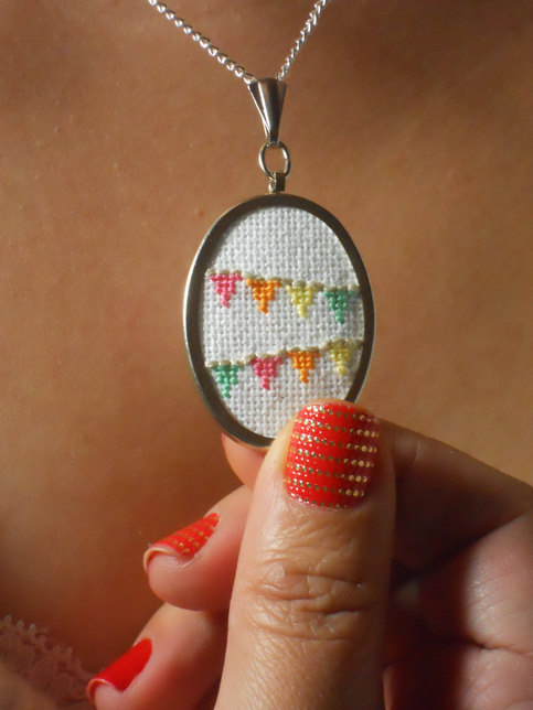 awesome kitchen gadgets unique appliances flag bunting necklace to celebrate everyday - cross-stitch ...