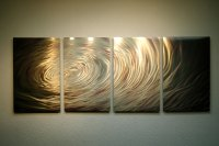 Ripple Brown Gold- Metal Wall Art Abstract Sculpture ...