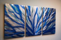 Radiance Blue 47 v2 - Metal Wall Art Abstract Sculpture ...