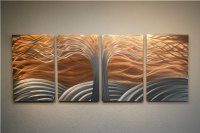 Tree of Life Bright Copper - Metal Wall Art Abstract ...
