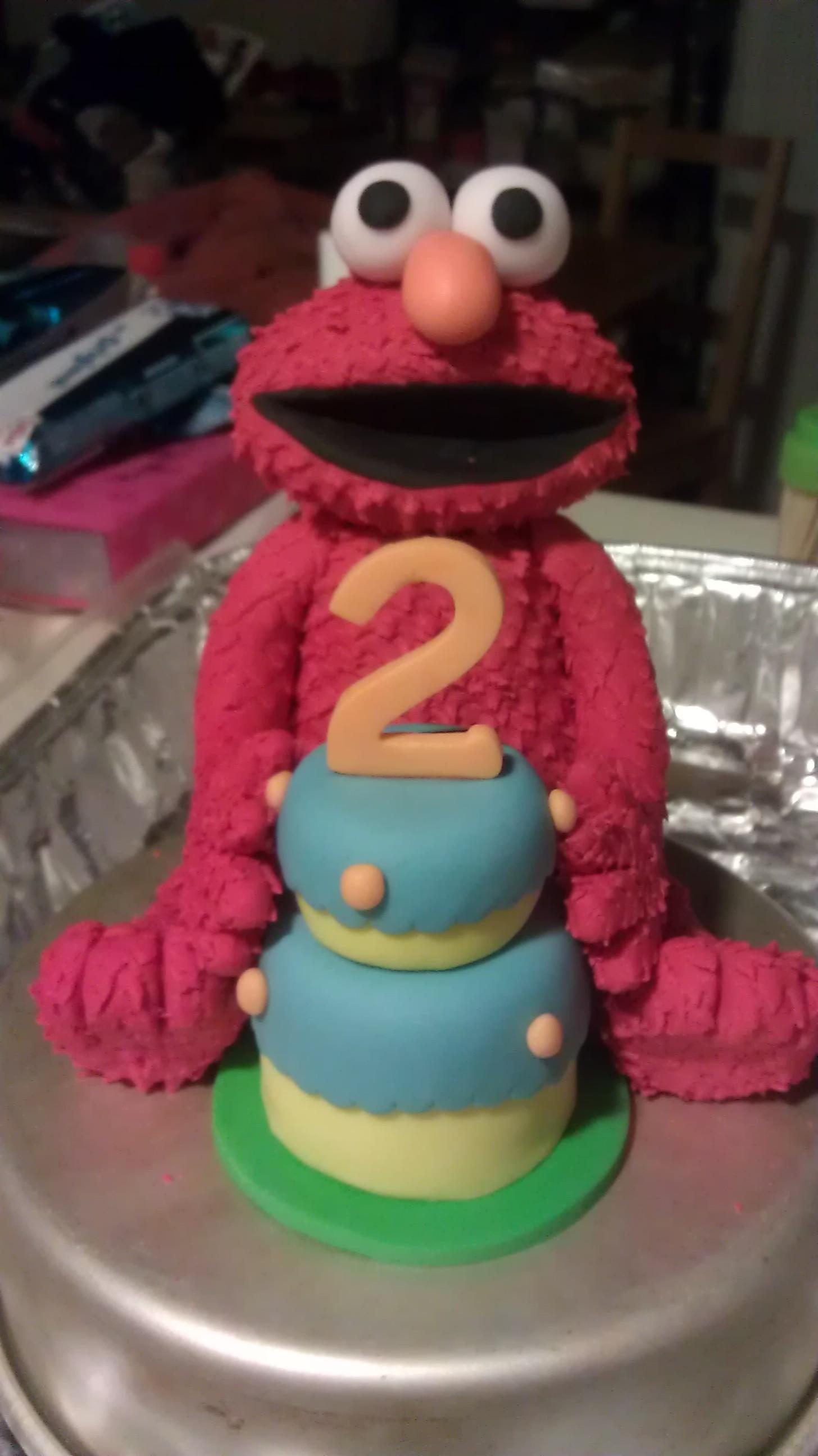 Fondant Elmo Cake Topper On Storenvy