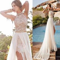 white prom dress, long prom dress, prom dress 2016, lace ...