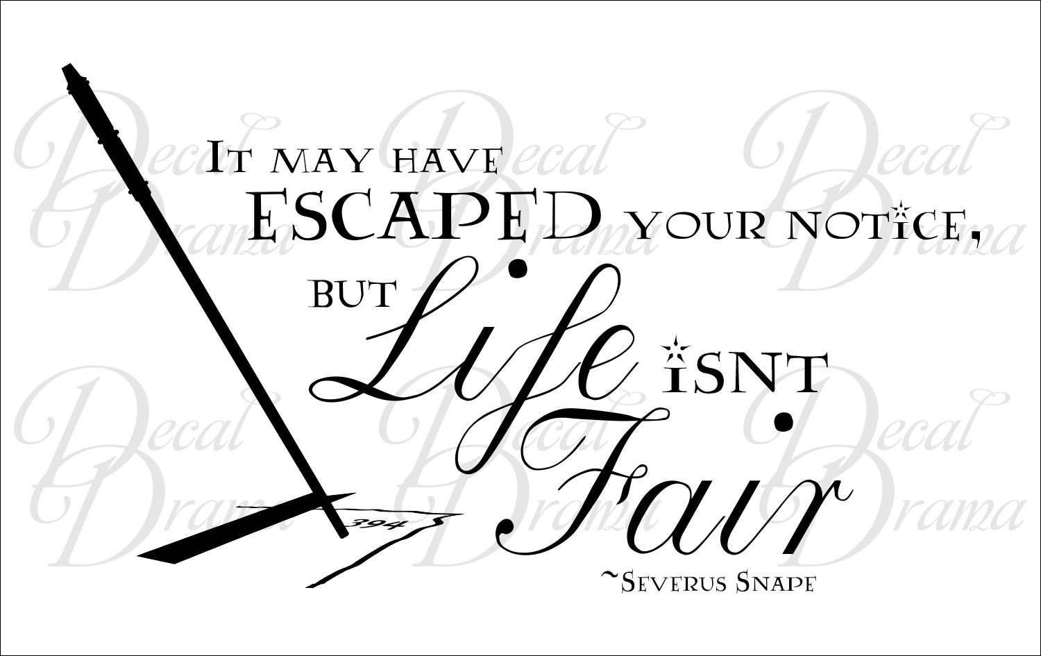 It May have Escaped Your Notice but LIFE isn't FAIR