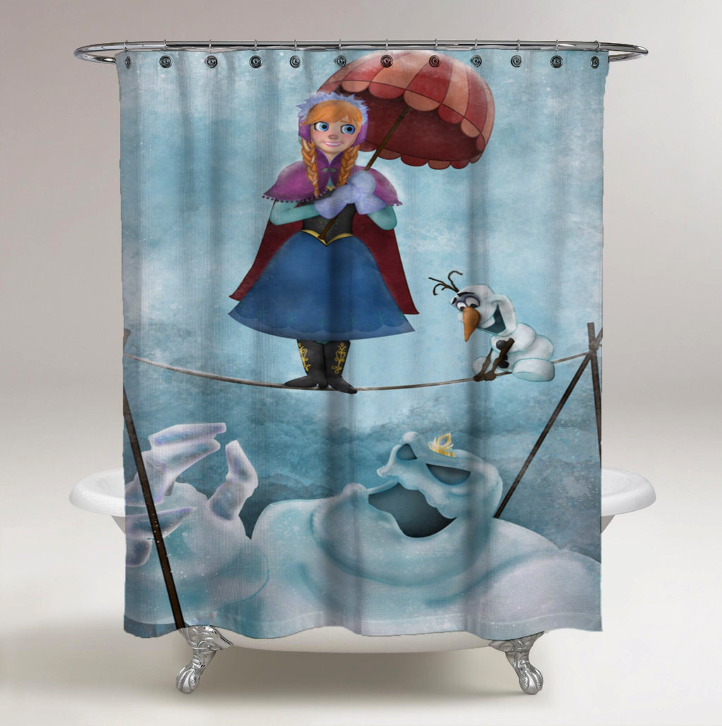 Frozen Bathroom Frozen Elsa Haunted Mantion Disney Custom Design Shower Curtain Print On